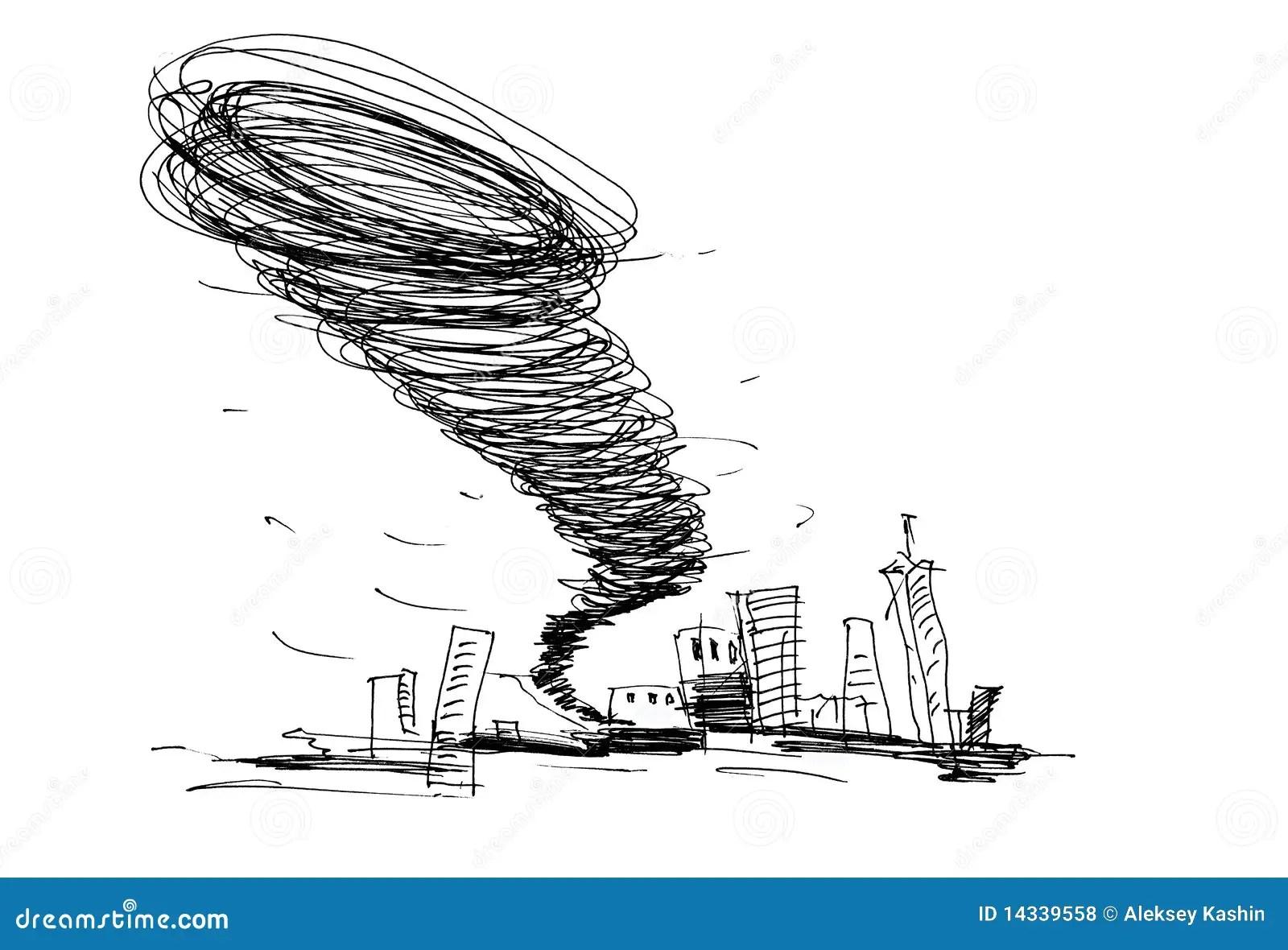 Sketch Of The Hurricane Stock Illustration Illustration