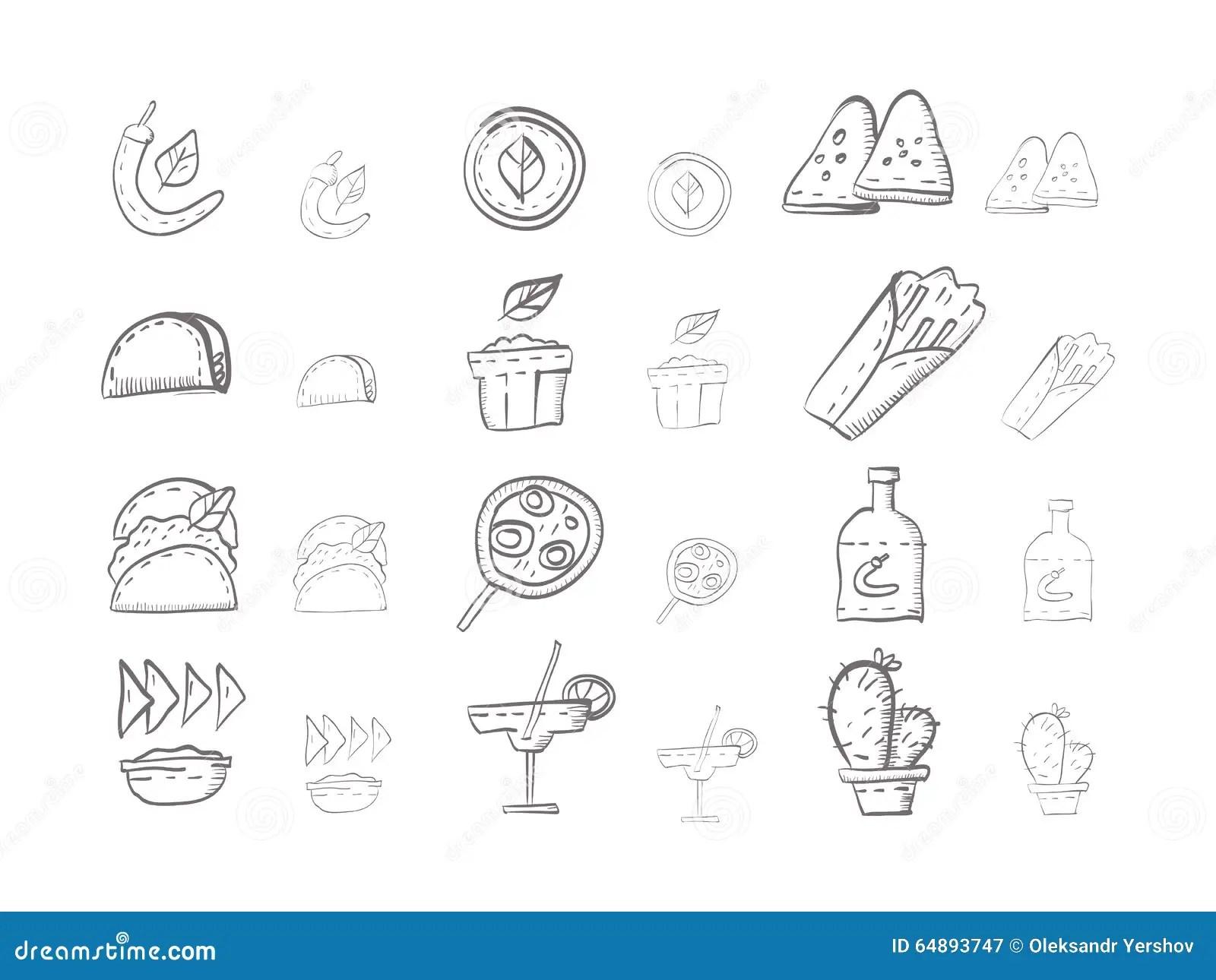 Burrito Hand Drawn Sketch Vector Illustration