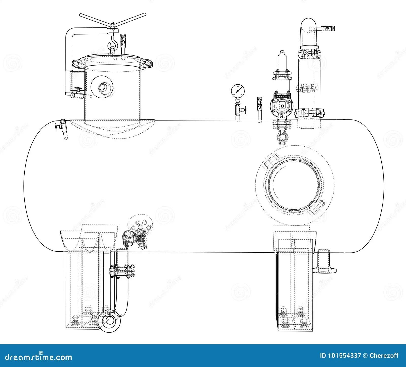 Sketch Industrial Equipment Stock Vector