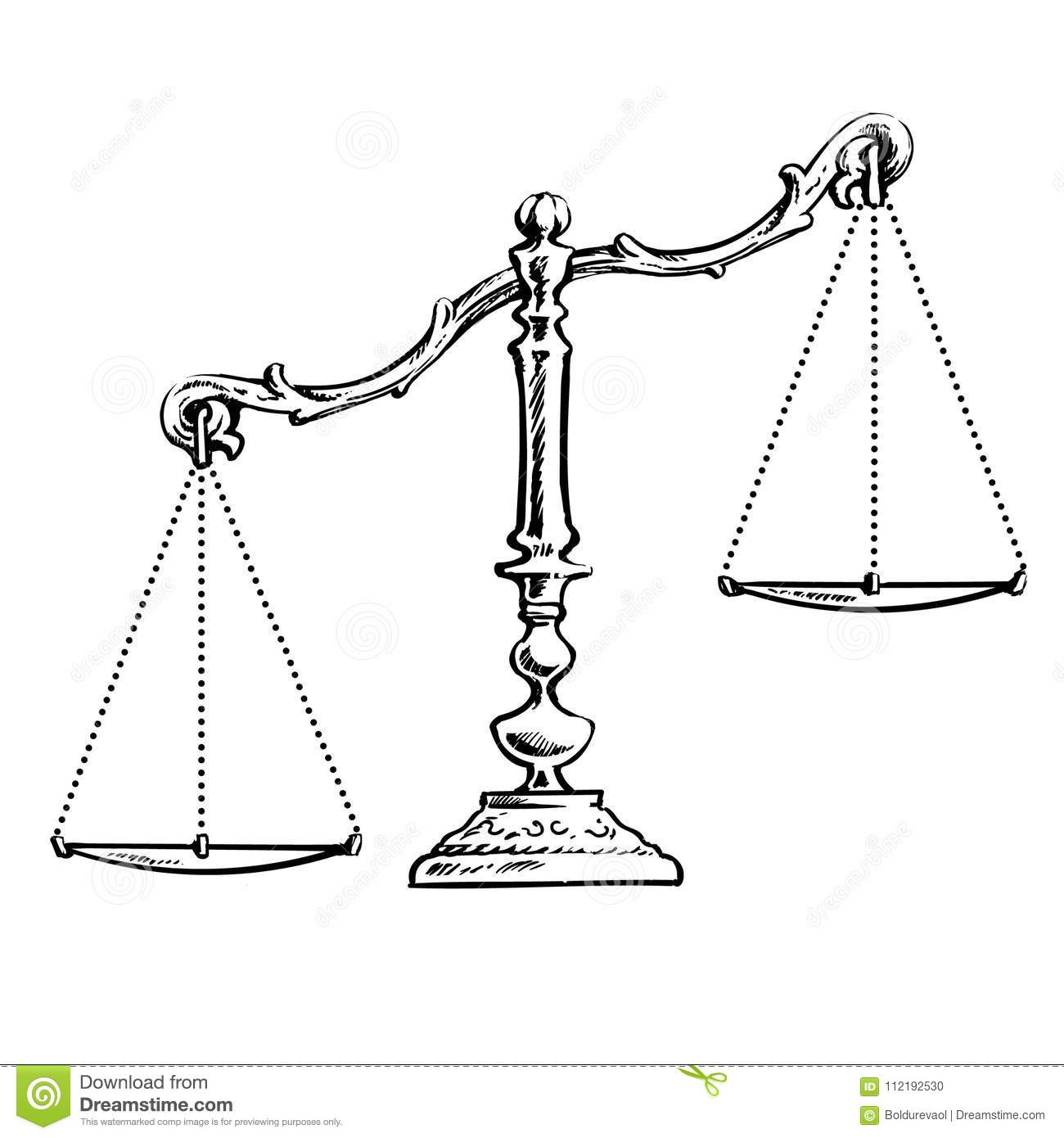 Unbalanced Scales Stock Vector Illustration Of Election
