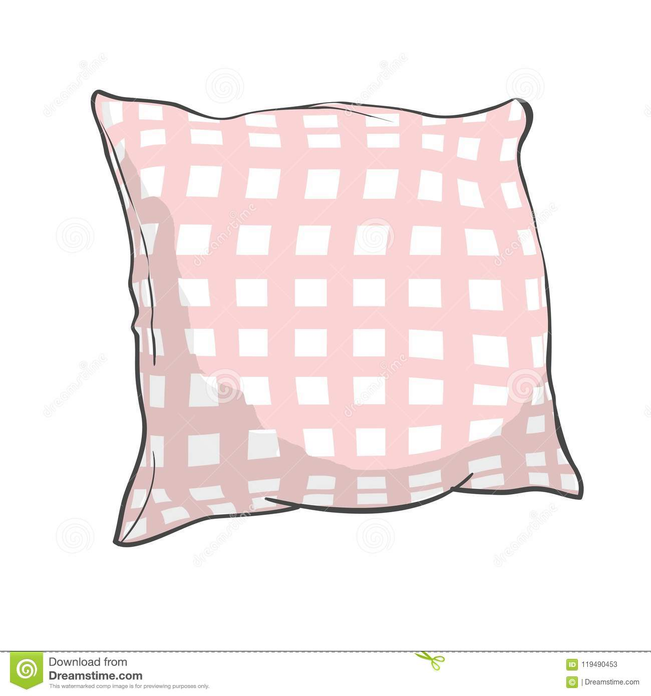 https www dreamstime com sketch vector illustration pillow art pillow isolated white pillow bed pillow bed comfort design domestic fabric feather image119490453