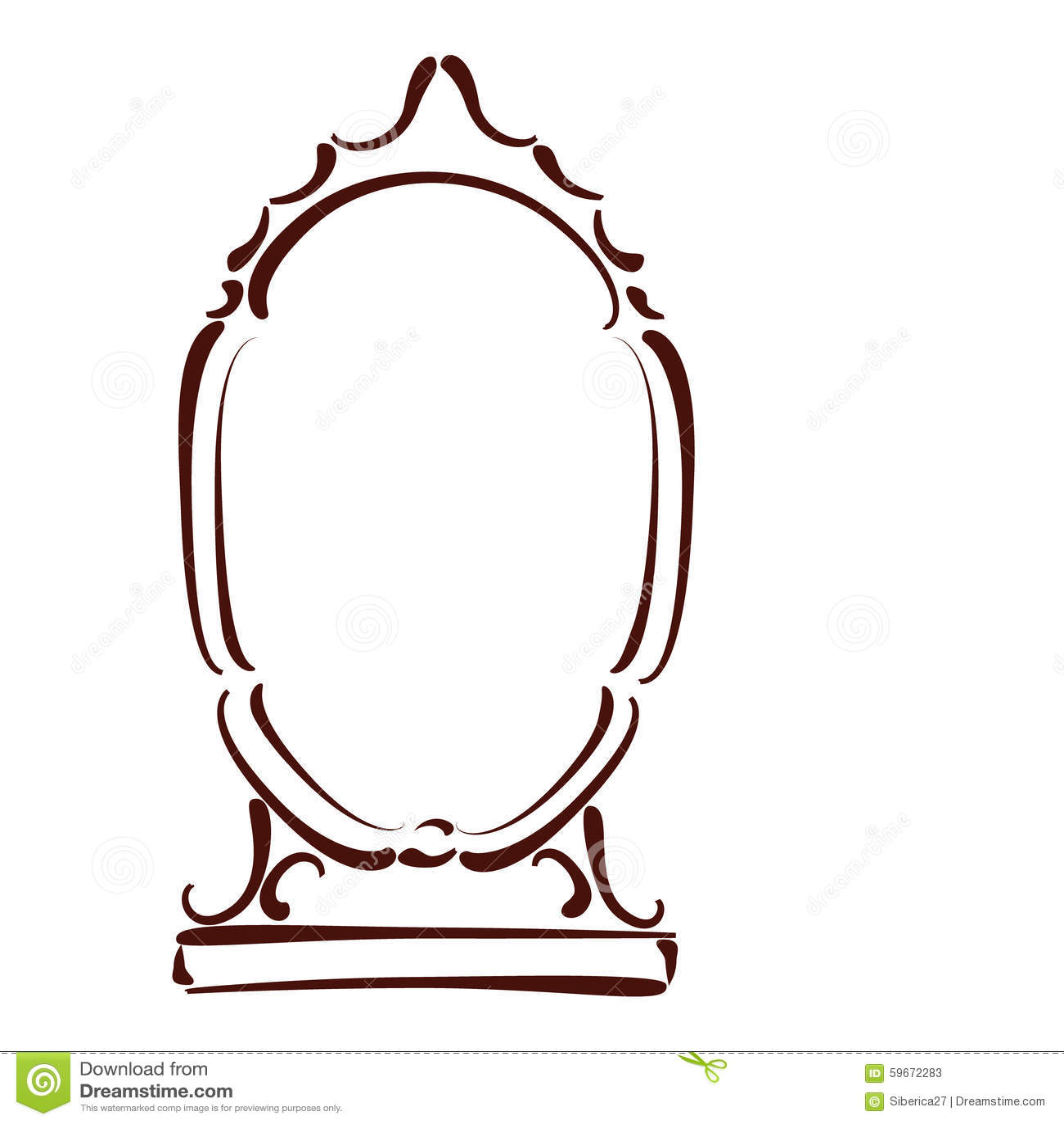 Sketched Mirror Stock Vector