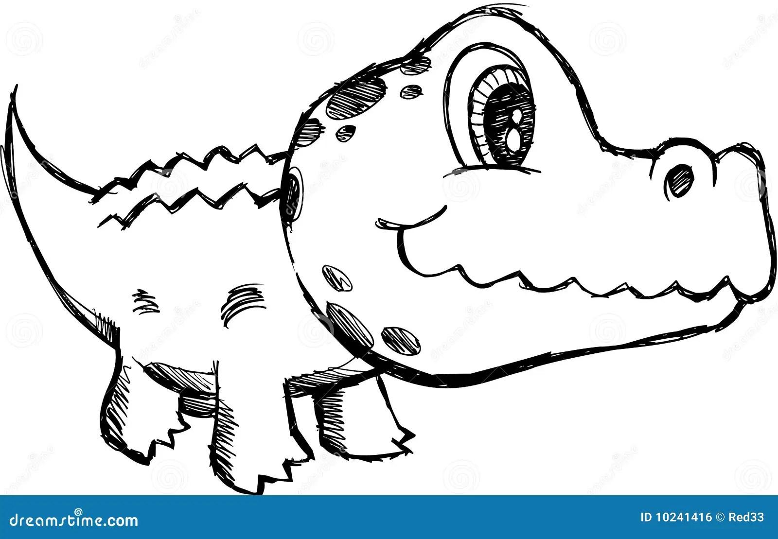 Baby Crocodile Drawing