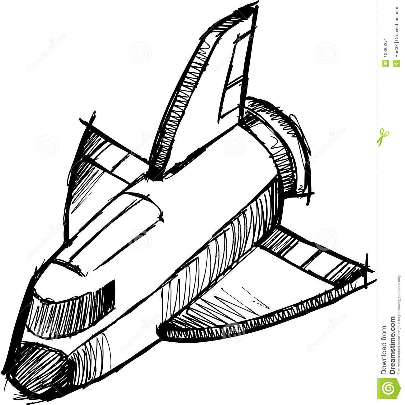 Sketchy Shuttle Rocket Vector Stock Image