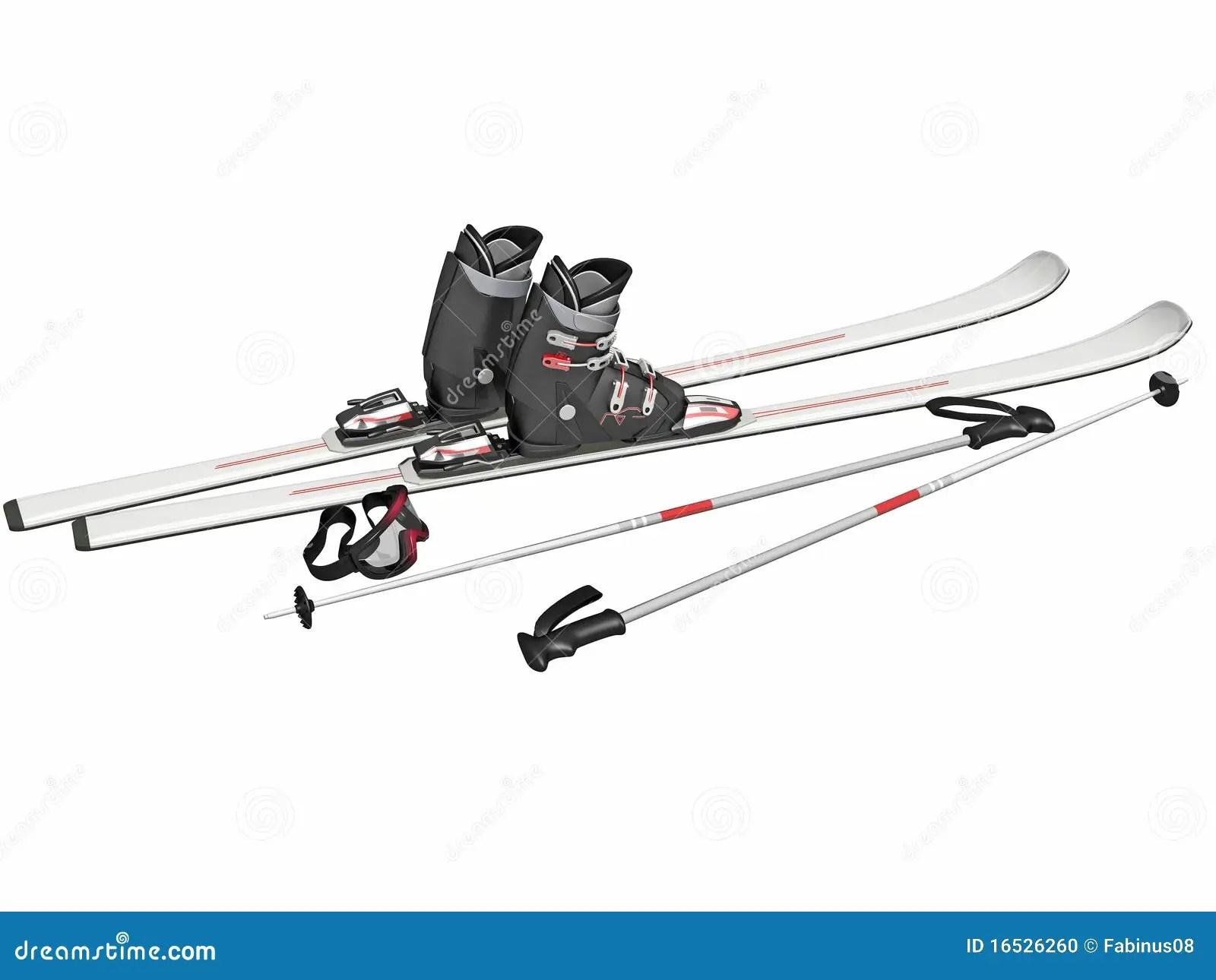Ski Equipment Stock Illustration Illustration Of Sports