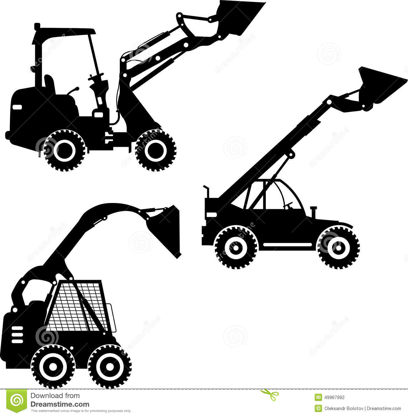 Skid Steer Loaders Heavy Construction Machines Stock
