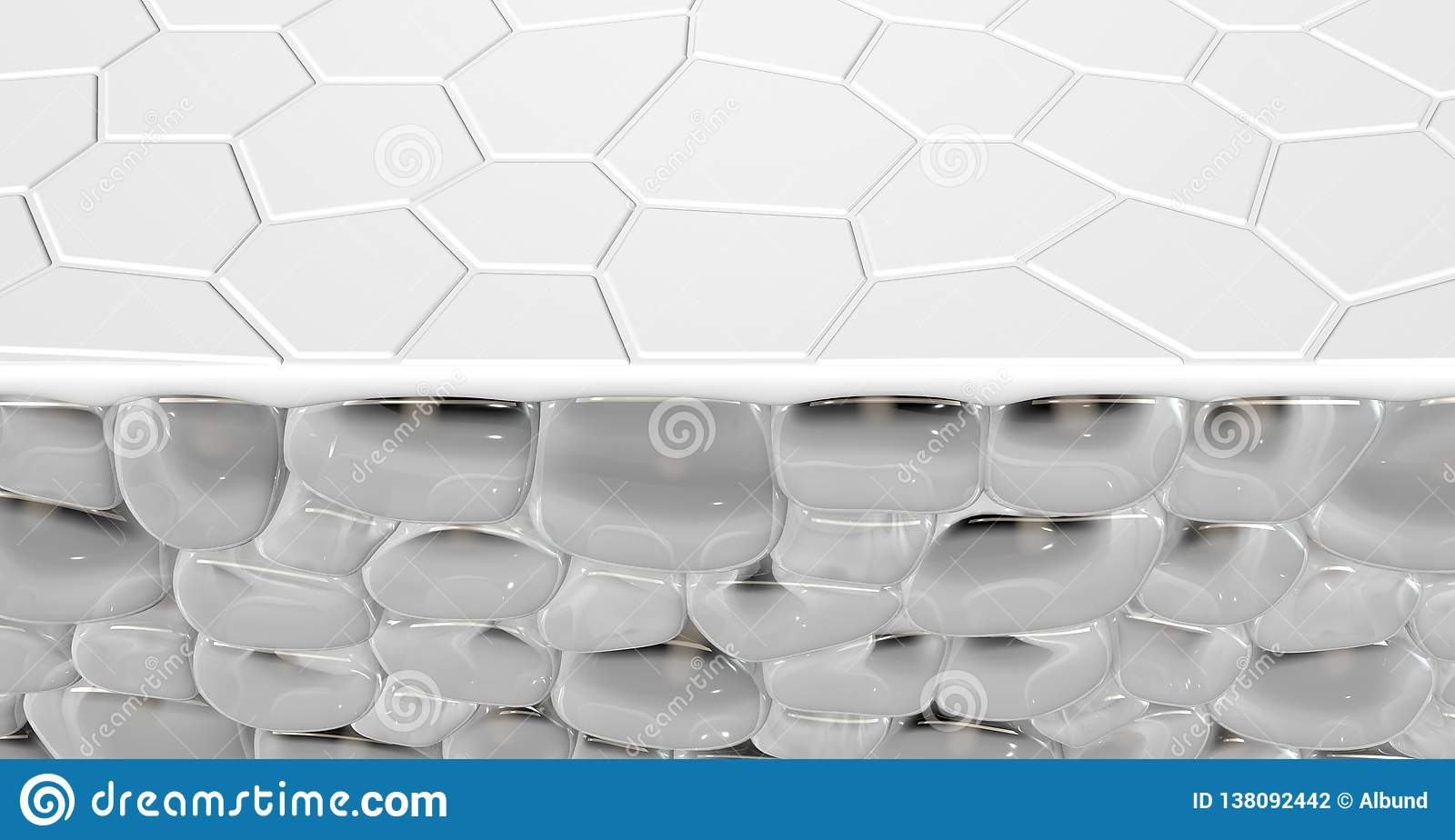 Skin Dermis Cross Section Stock Illustration Illustration