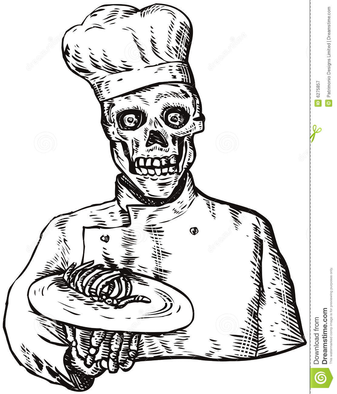 Skull Chef Royalty Free Stock Photography