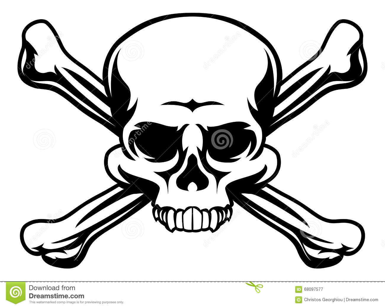 Skull And Crossbones Symbol Stock Vector