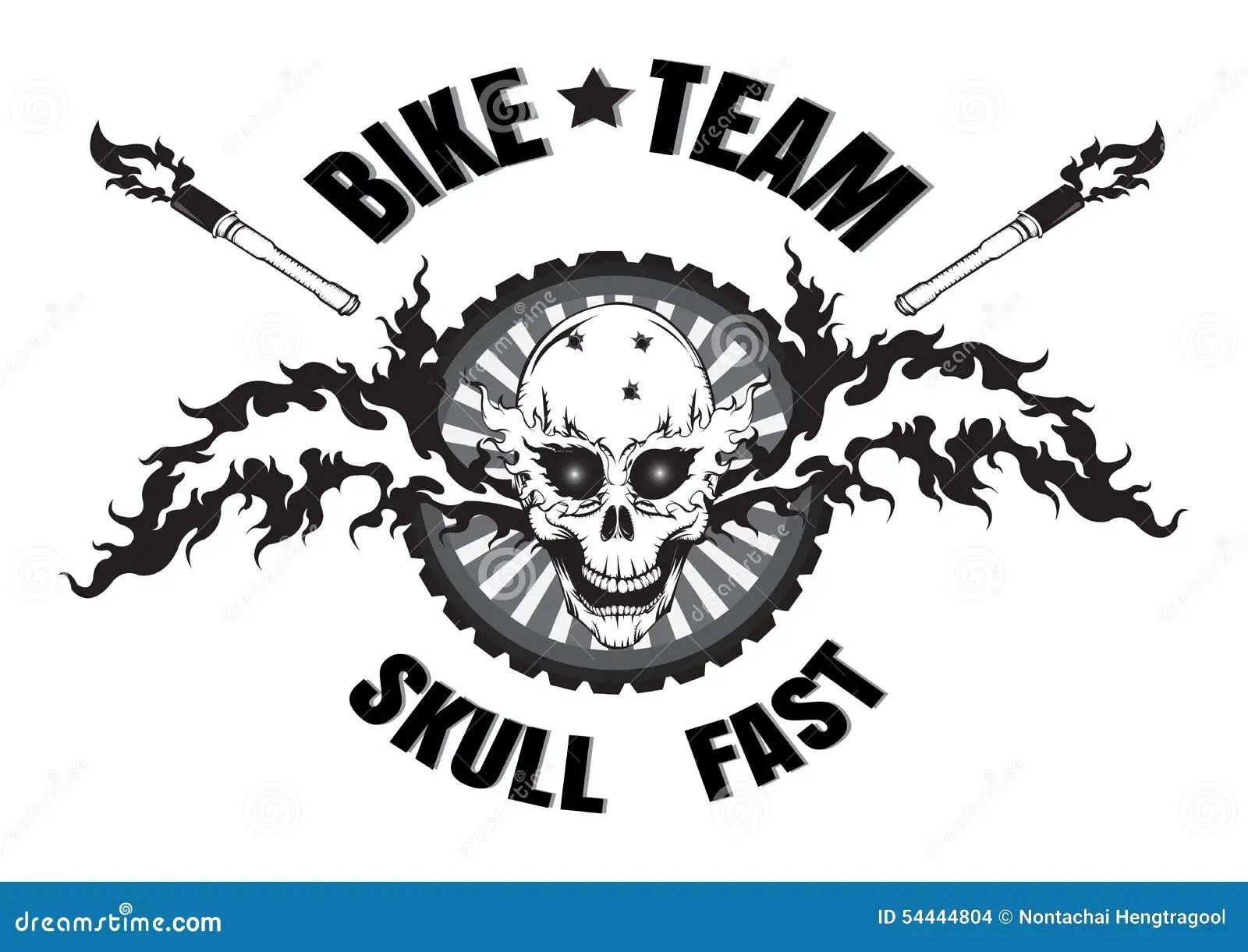 Skull Logo Stock Vector Illustration Of Badge Design