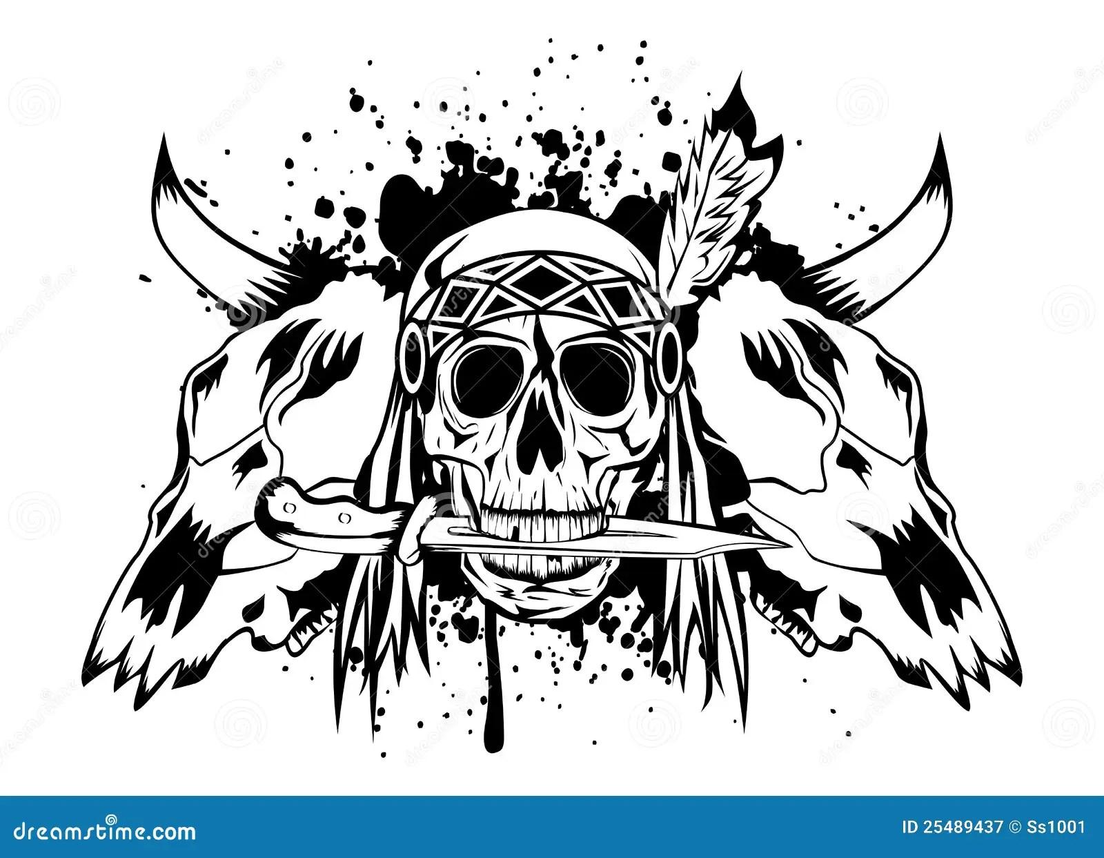 Skulls Bull And Skull Indian Royalty Free Stock