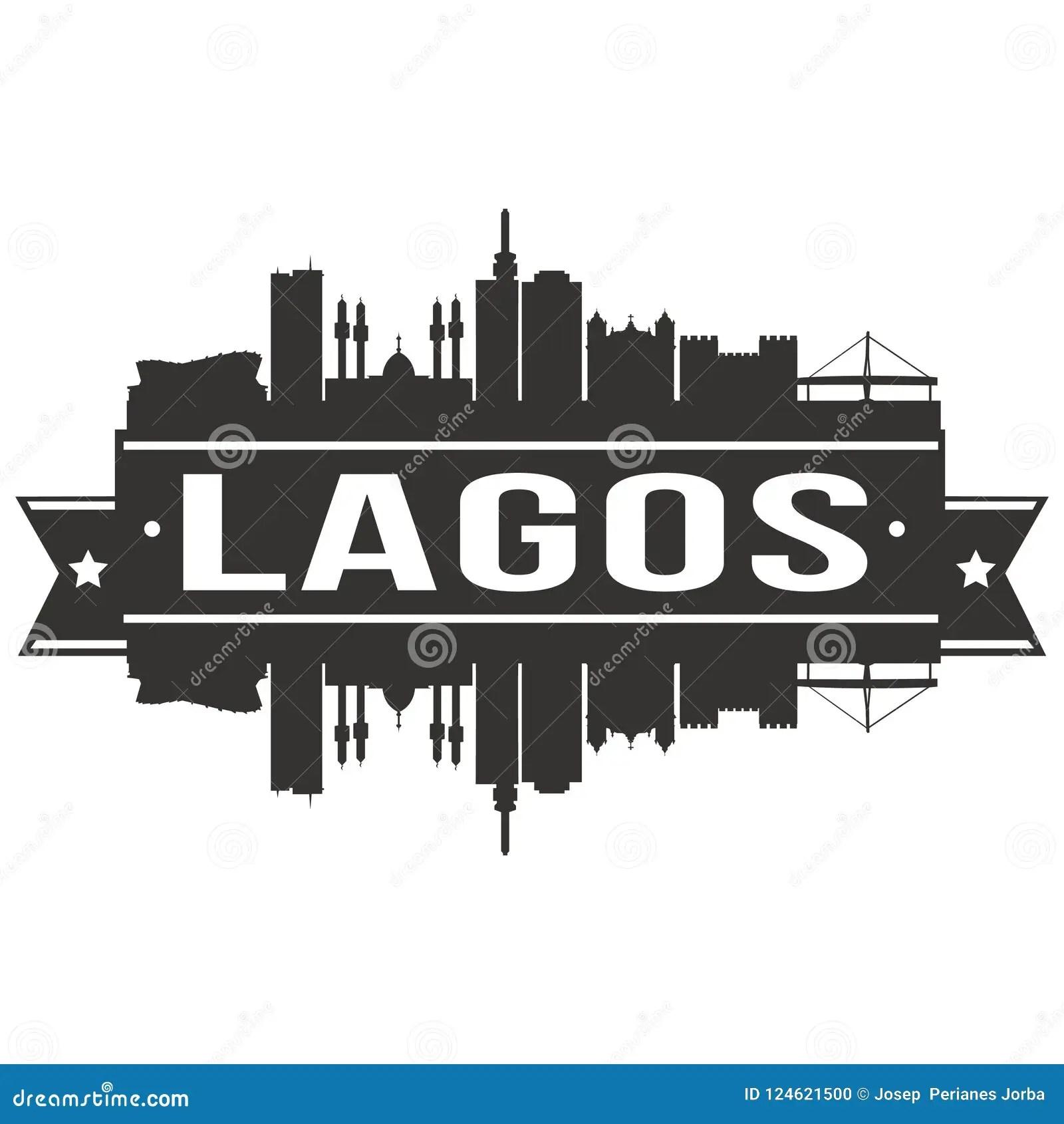 Lagos Nigeria Round Icon Vector Art Flat Shadow Design
