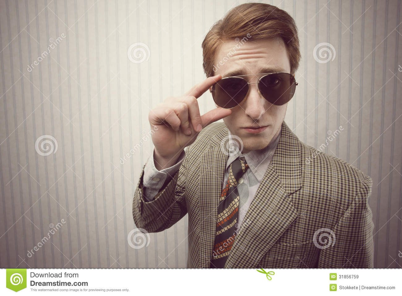 Sleazy Retro Businessman Stock Image Image Of Hair Style