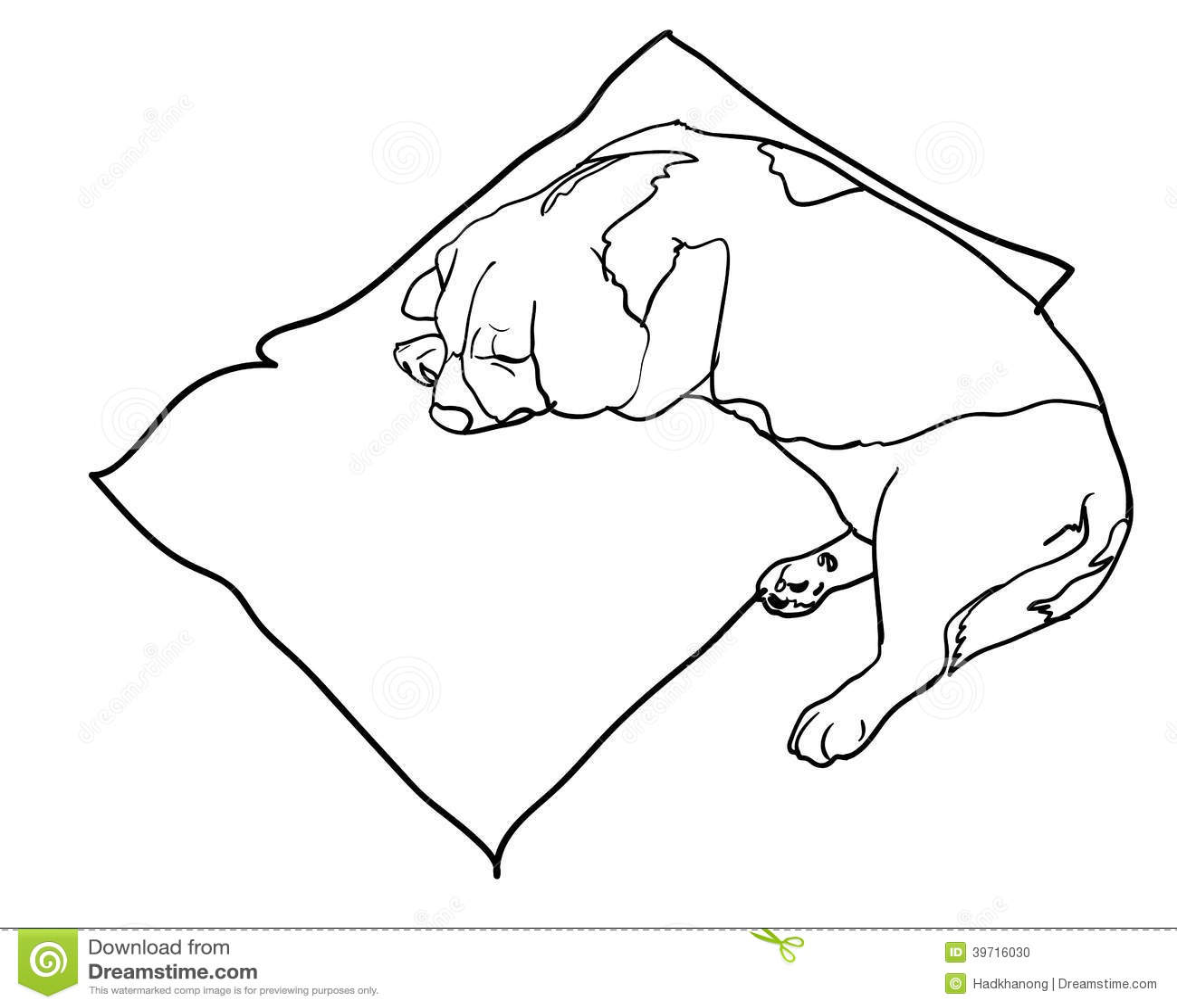 Sleeping Beagle Stock Vector