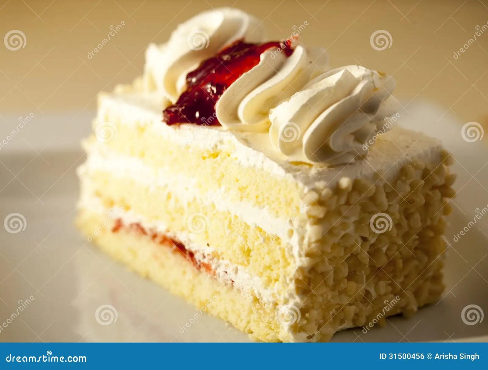 Slice Of Vanilla Cake Royalty Free Stock Image Image