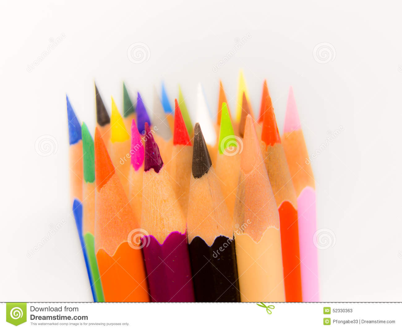 Crayon Tips Stock Photography