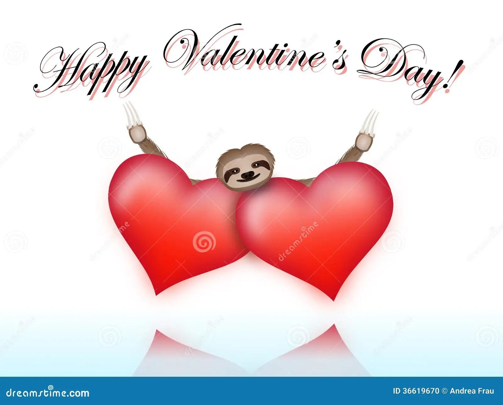 Sloth On Valentines Day Stock Photo Image 36619670