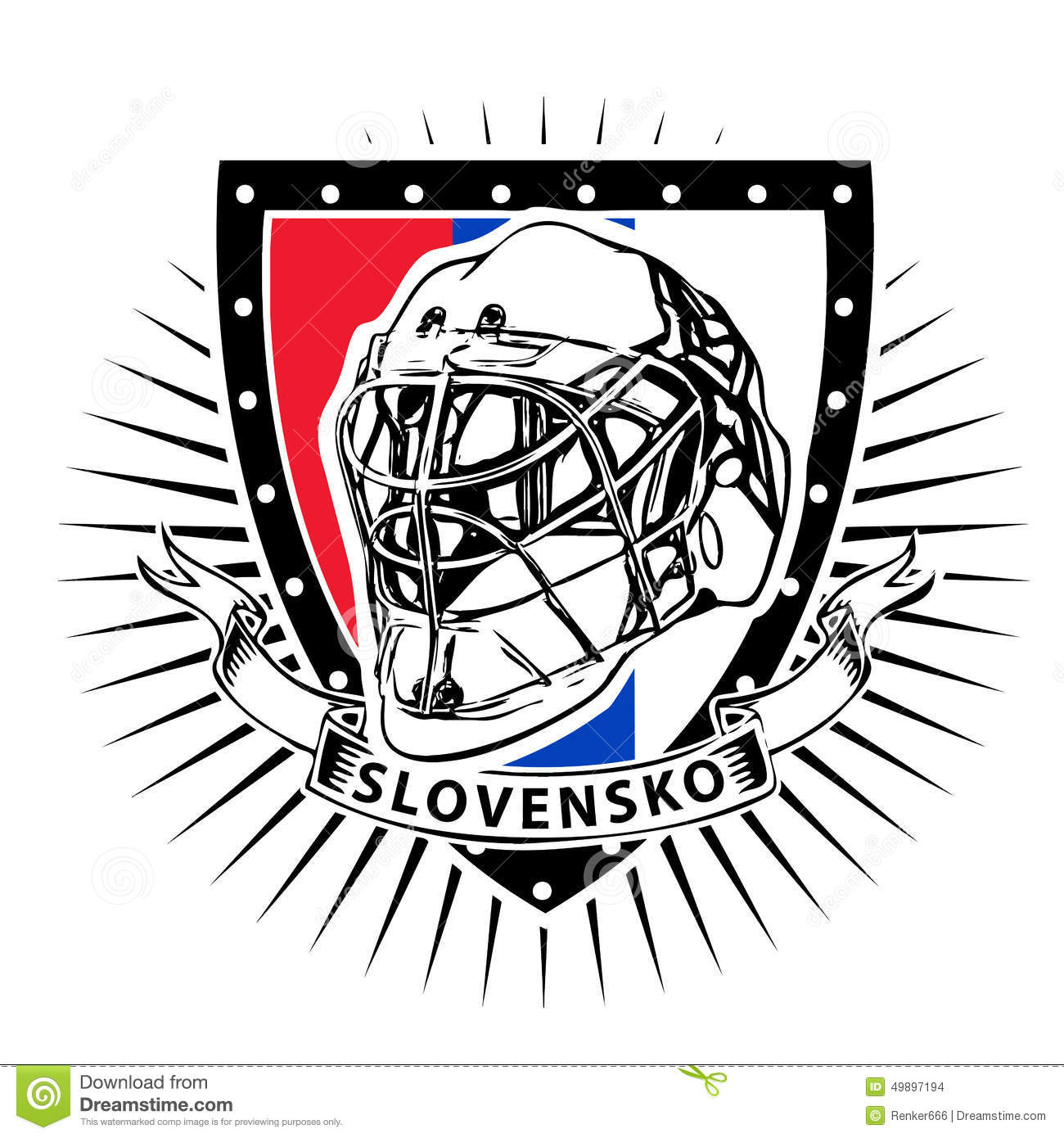 Slovakia Ice Hockey Shield Stock Vector