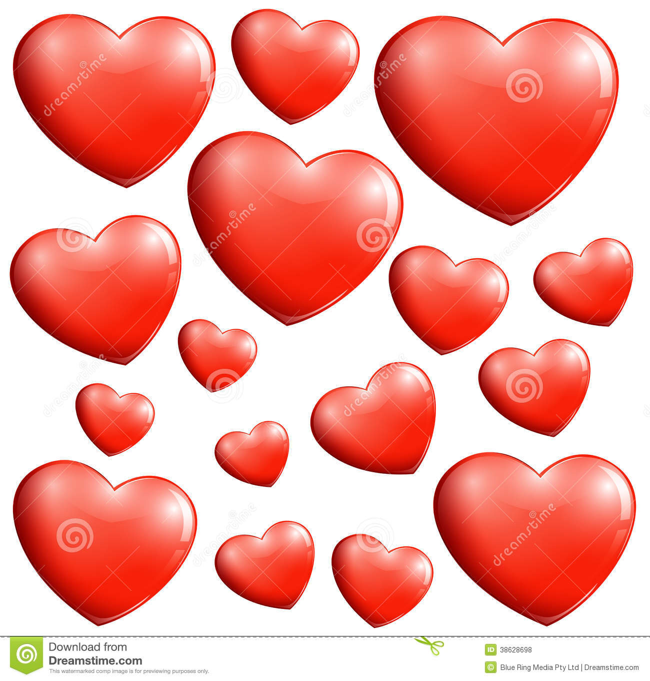 Small And Big Hearts Stock Vector Illustration Of Love
