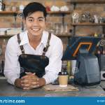 Small Business Happy Owner Of A Coffee Cafe Stock Photo Image Of Store Entrepreneur 158147116