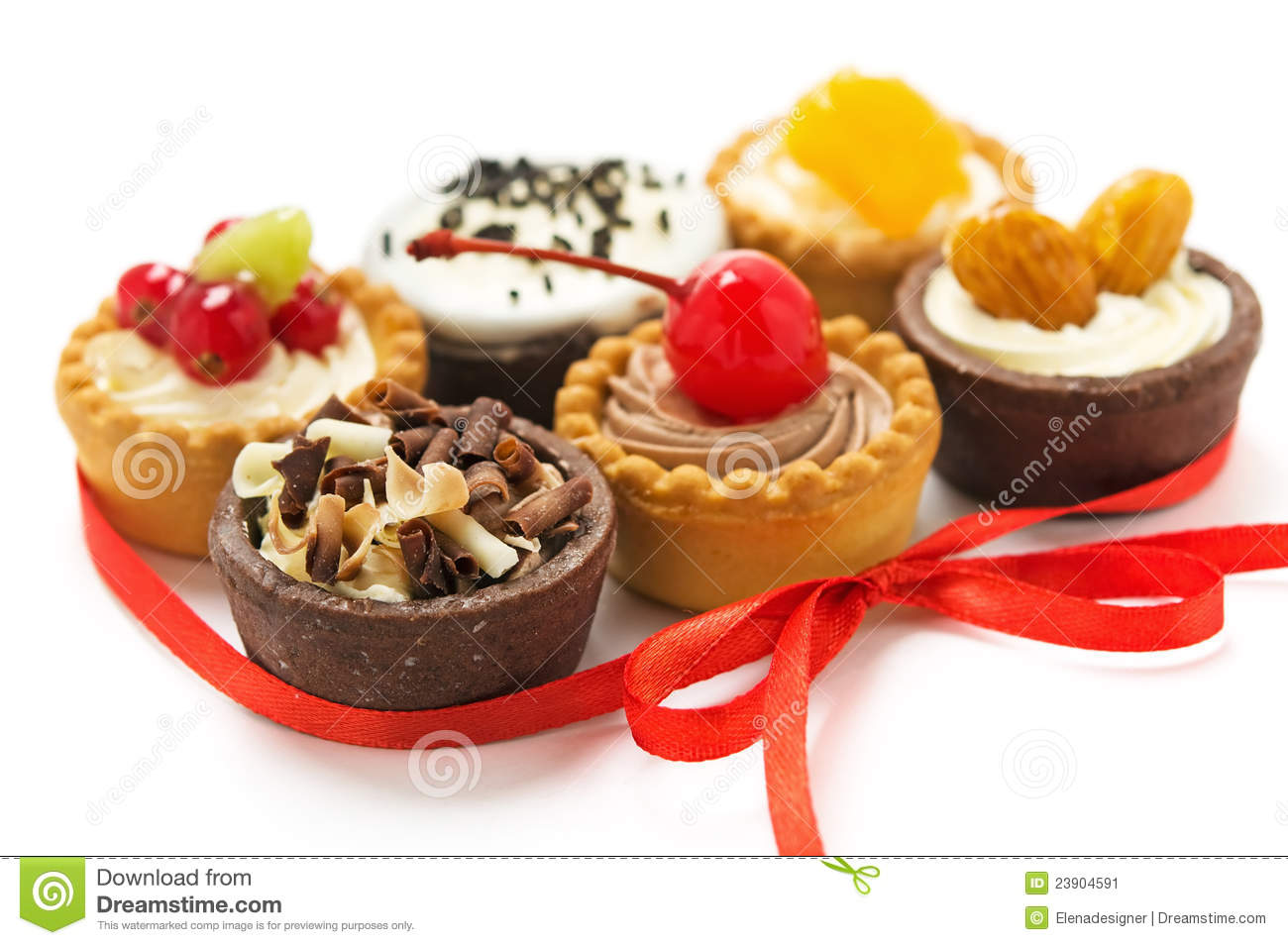 Small Cakes With Different Stuffing Stock Image Image Of
