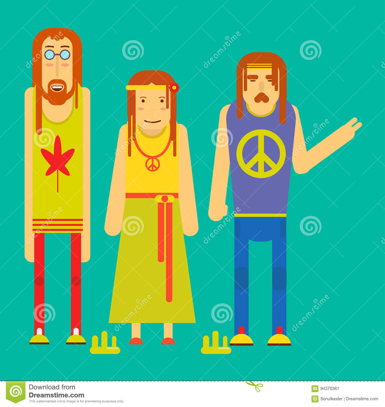 Cartoon Guy Beard 70s