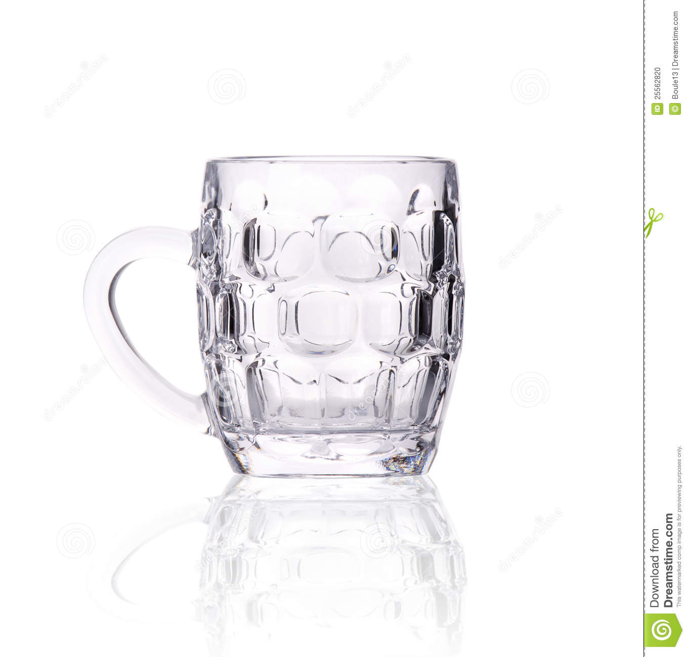 Small Empty Beer Mug On White Stock Photo