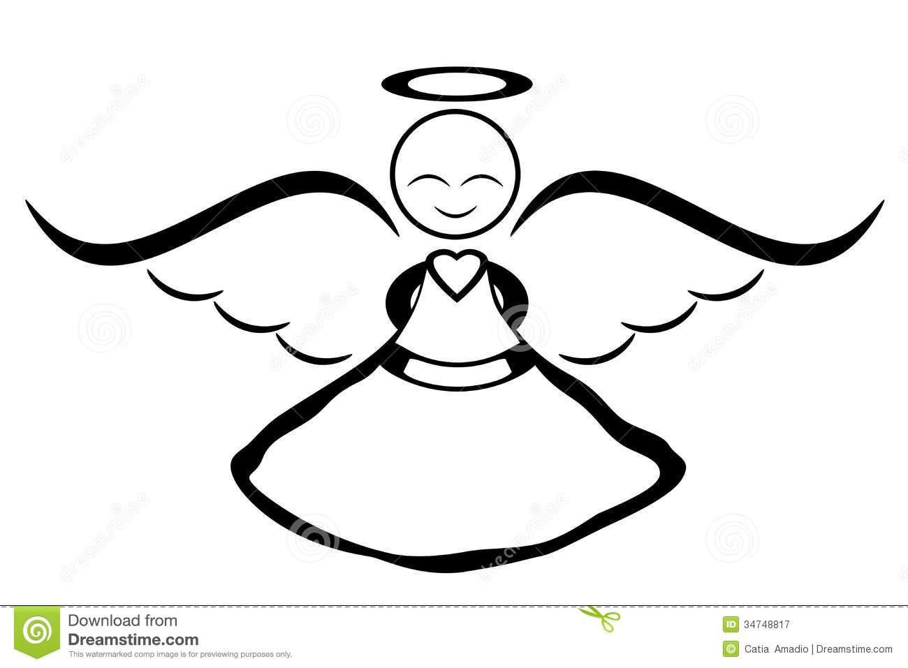 Smiling Angel Stock Illustration Illustration Of Halo