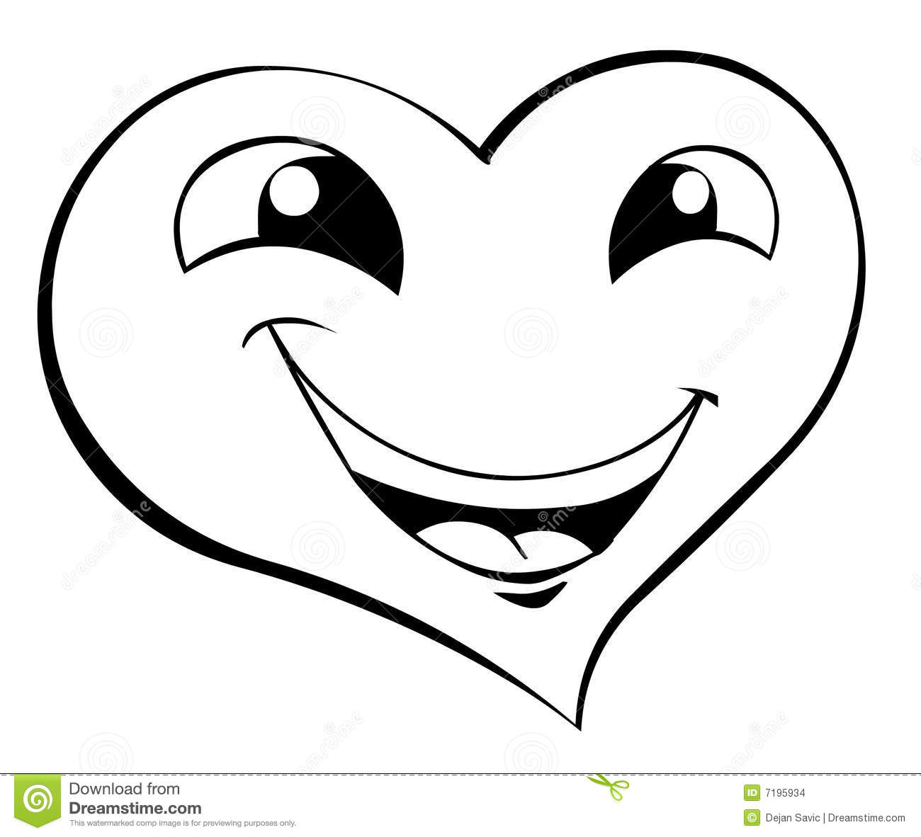 Smiling Heart Stock Illustration Image Of Funny