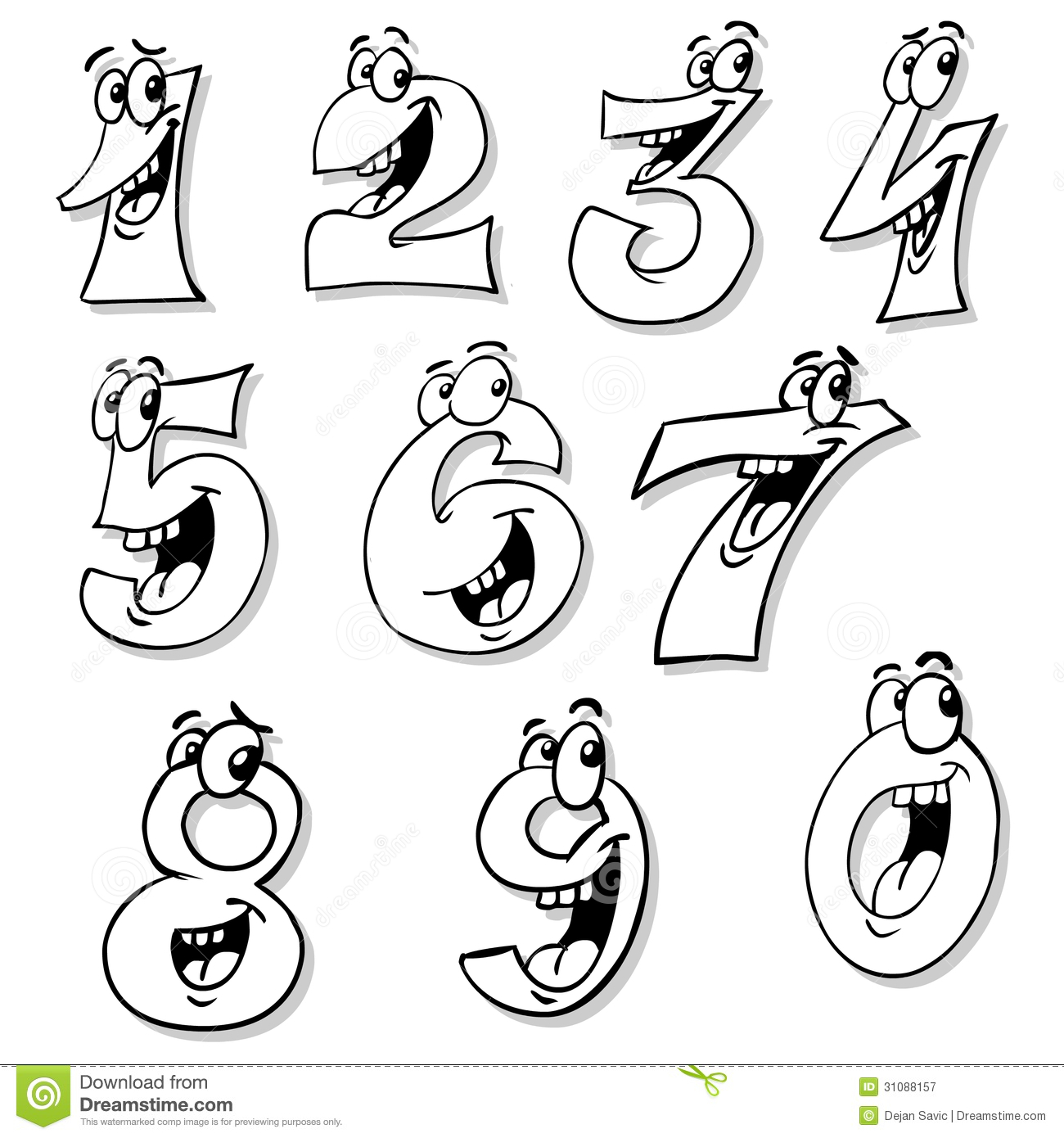Smiling Numbers Royalty Free Stock Photography