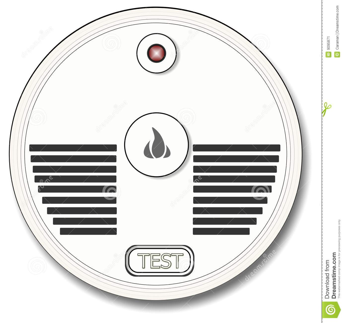 Smoke Detector Coloring Page Jpg 1385x1300