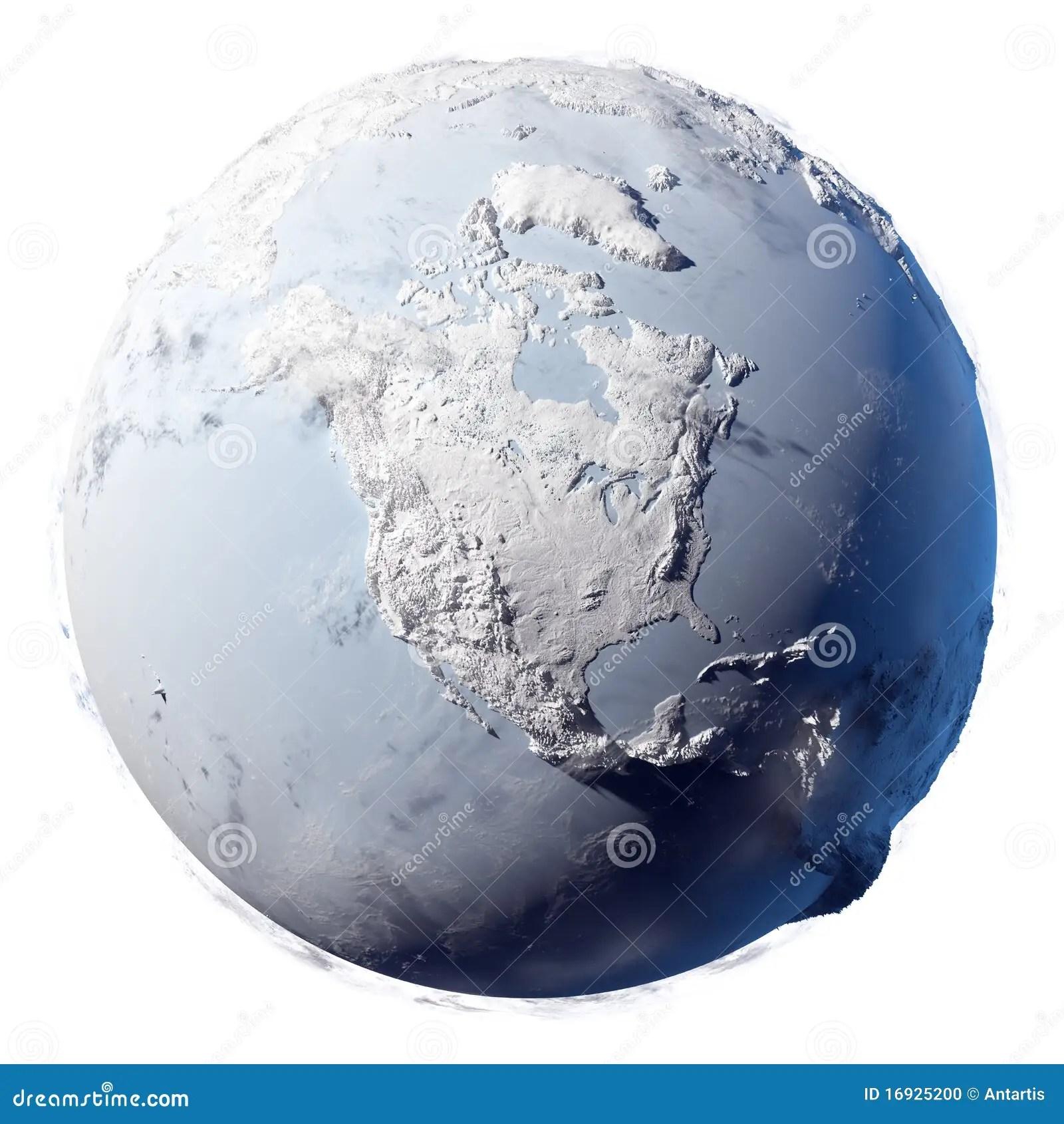 Snow Planet Earth Stock Illustration Illustration Of