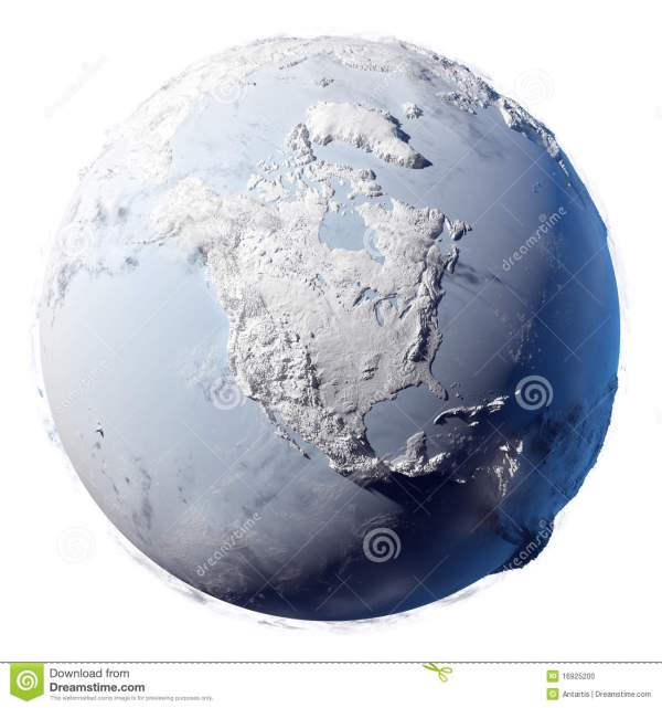 Snow Planet Earth stock illustration. Illustration of pole ...