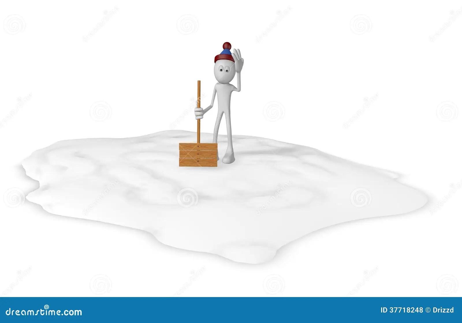 Snow Shovel Stock Illustration