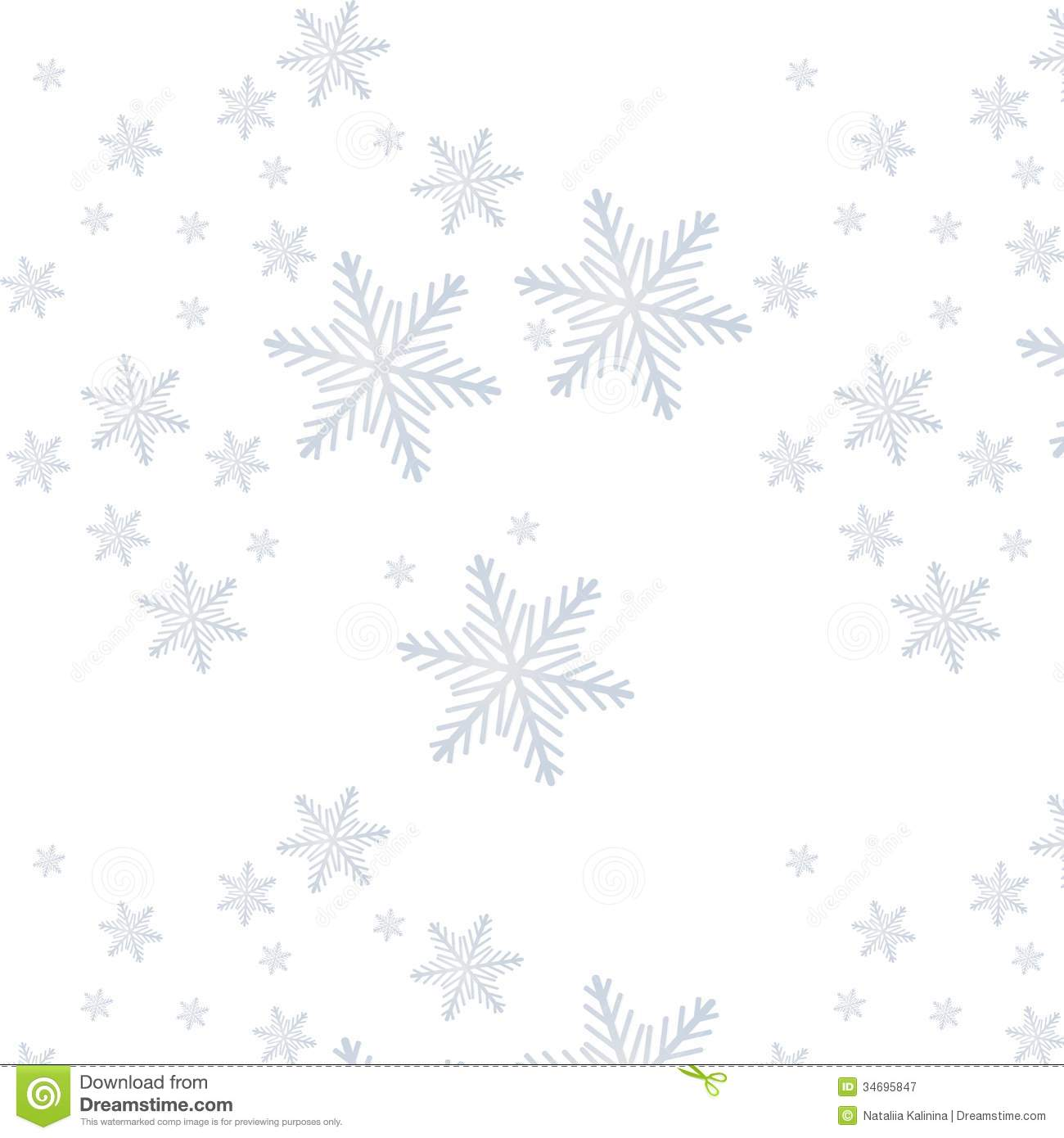 Snowflake On A Paper Background Stock Illustration