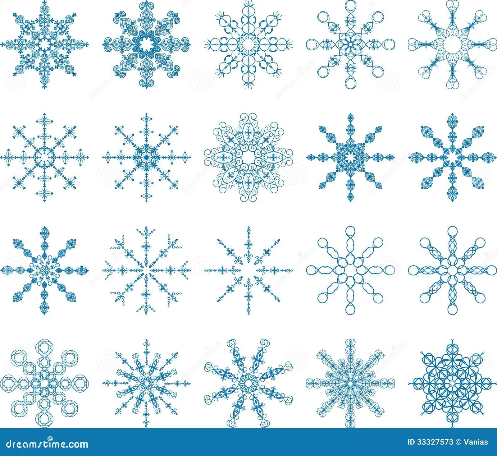 Snowflake Vector Set Stock Photos Image 33327573