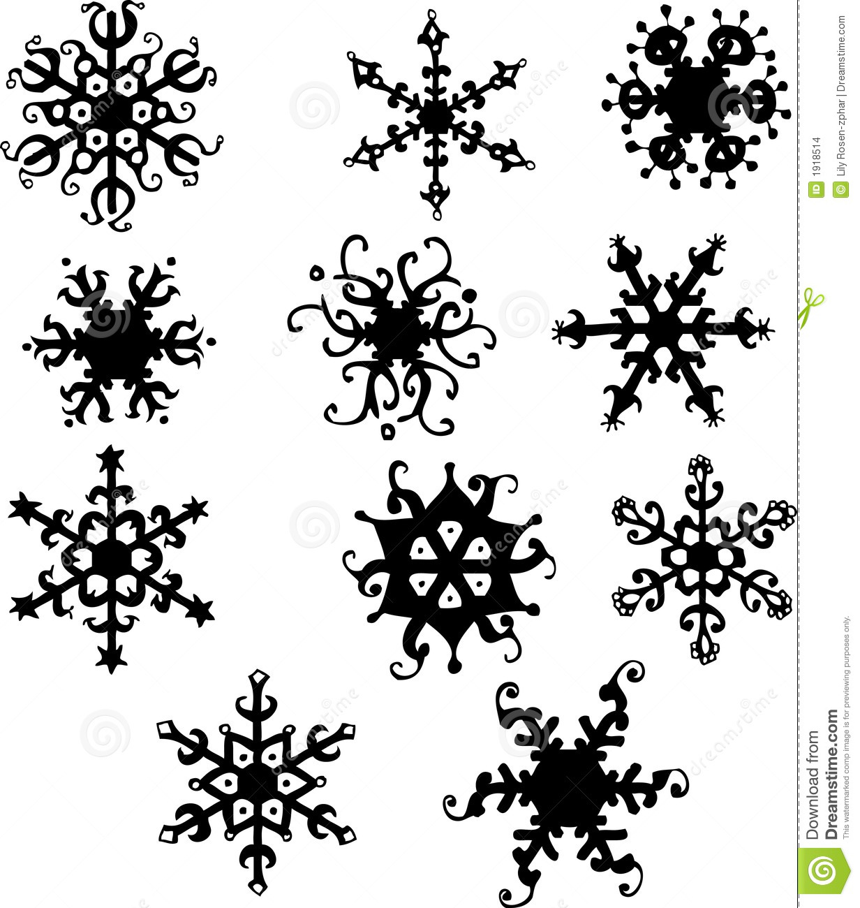 Snowflakes Stock Vector Image Of Texture Stained