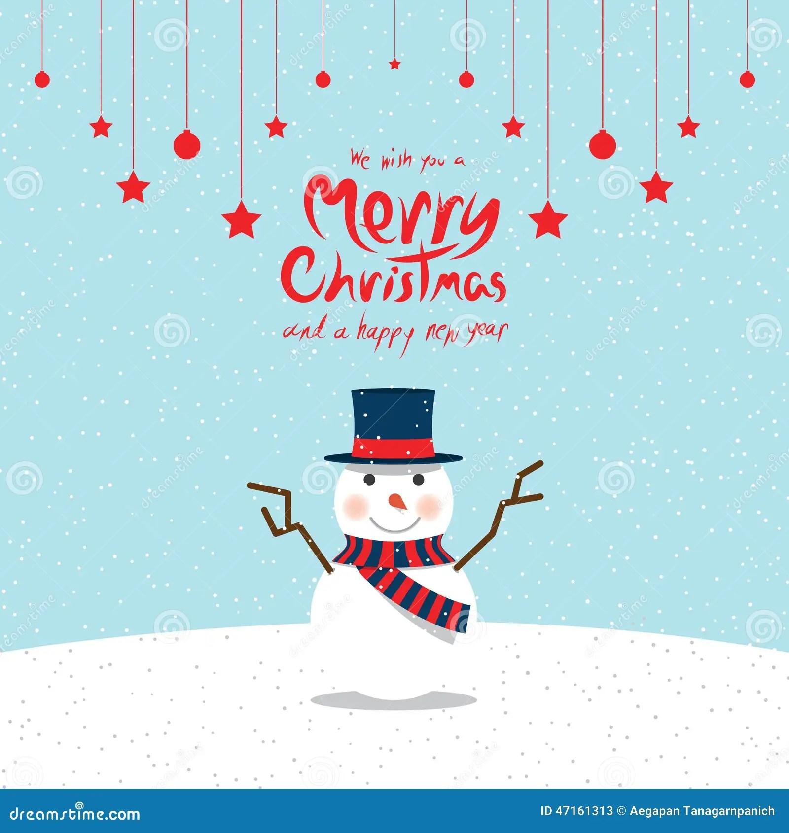Snowman Christmas Cards Stock Vector Image 47161313