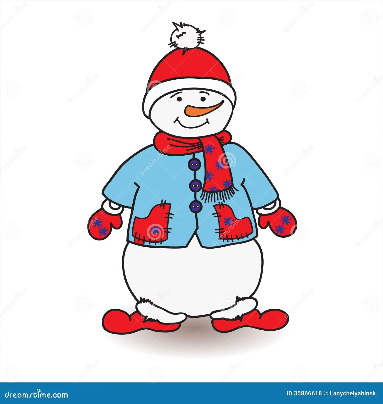 Snowman Stock Vector Illustration Of Holiday Balloon