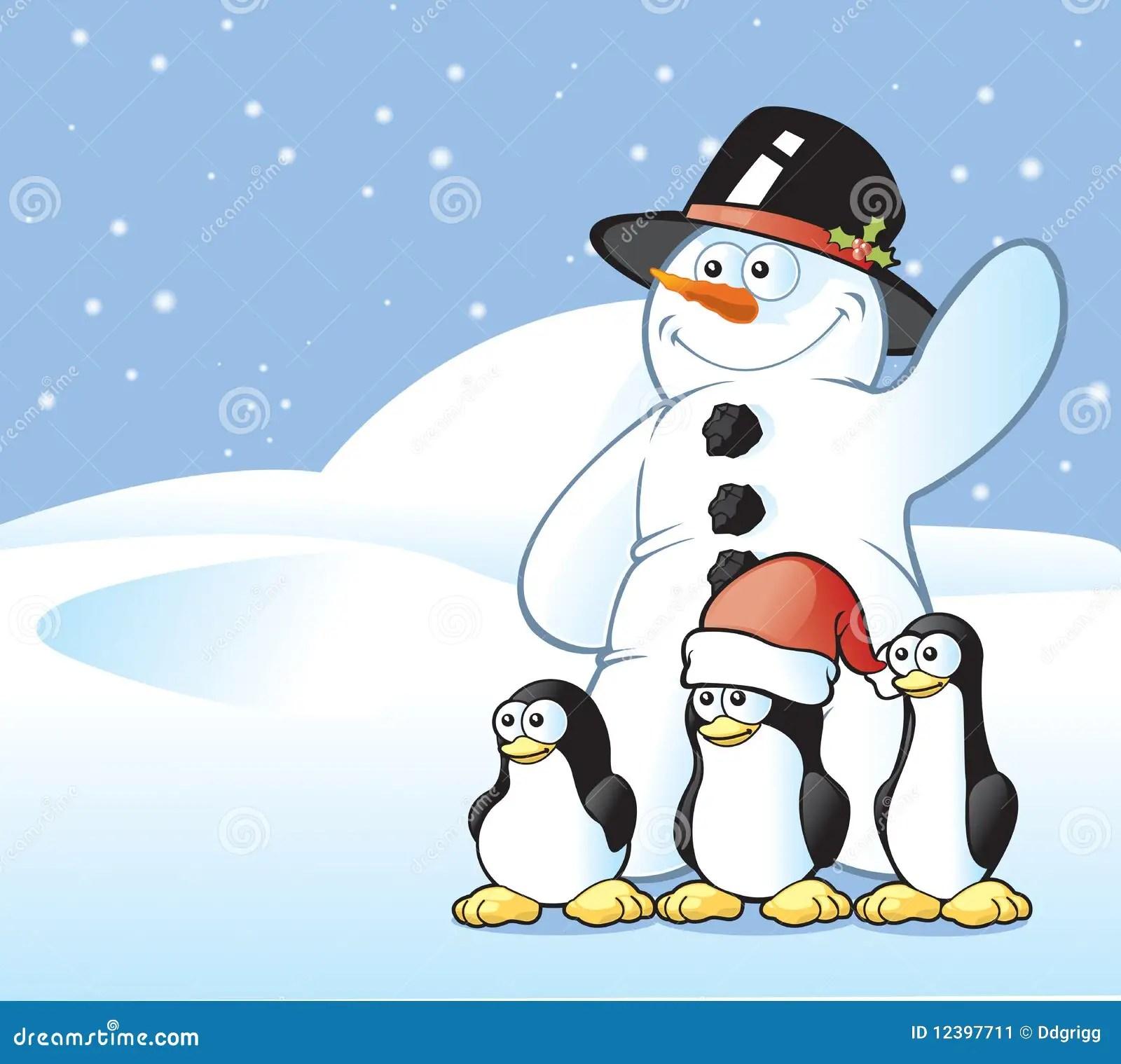Merry Christmas Penguin Clip Art
