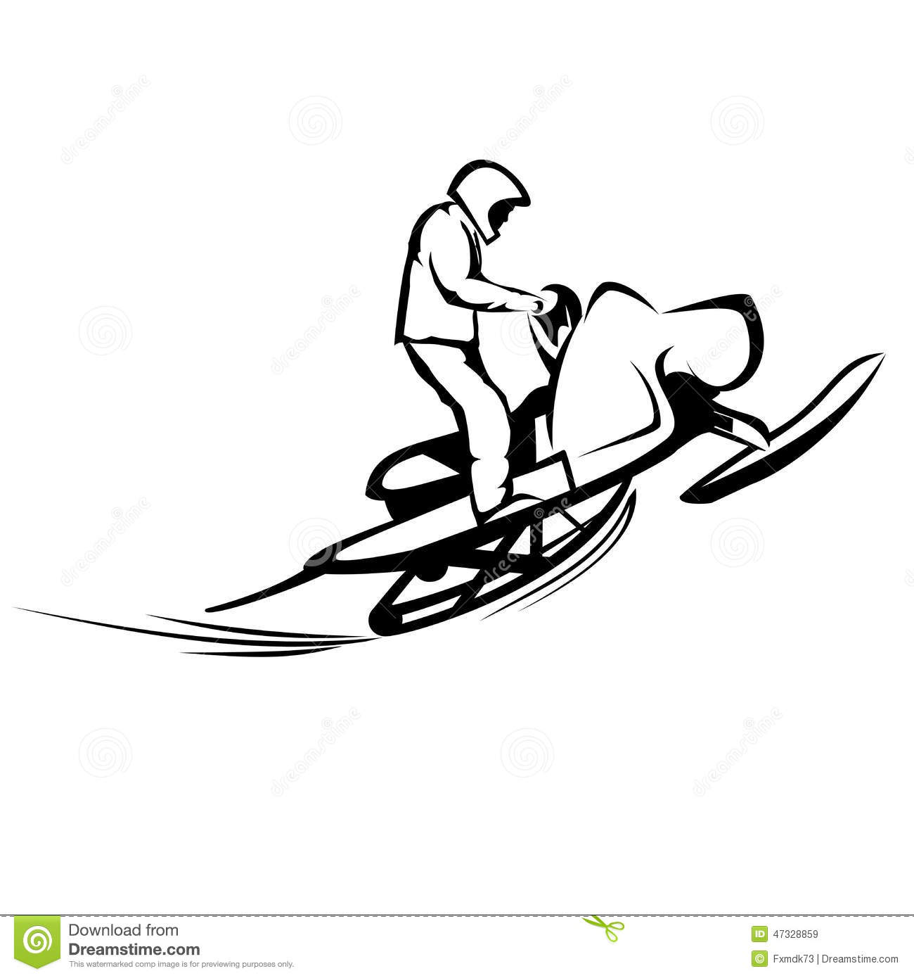 Snowmobiles Cartoon Vector