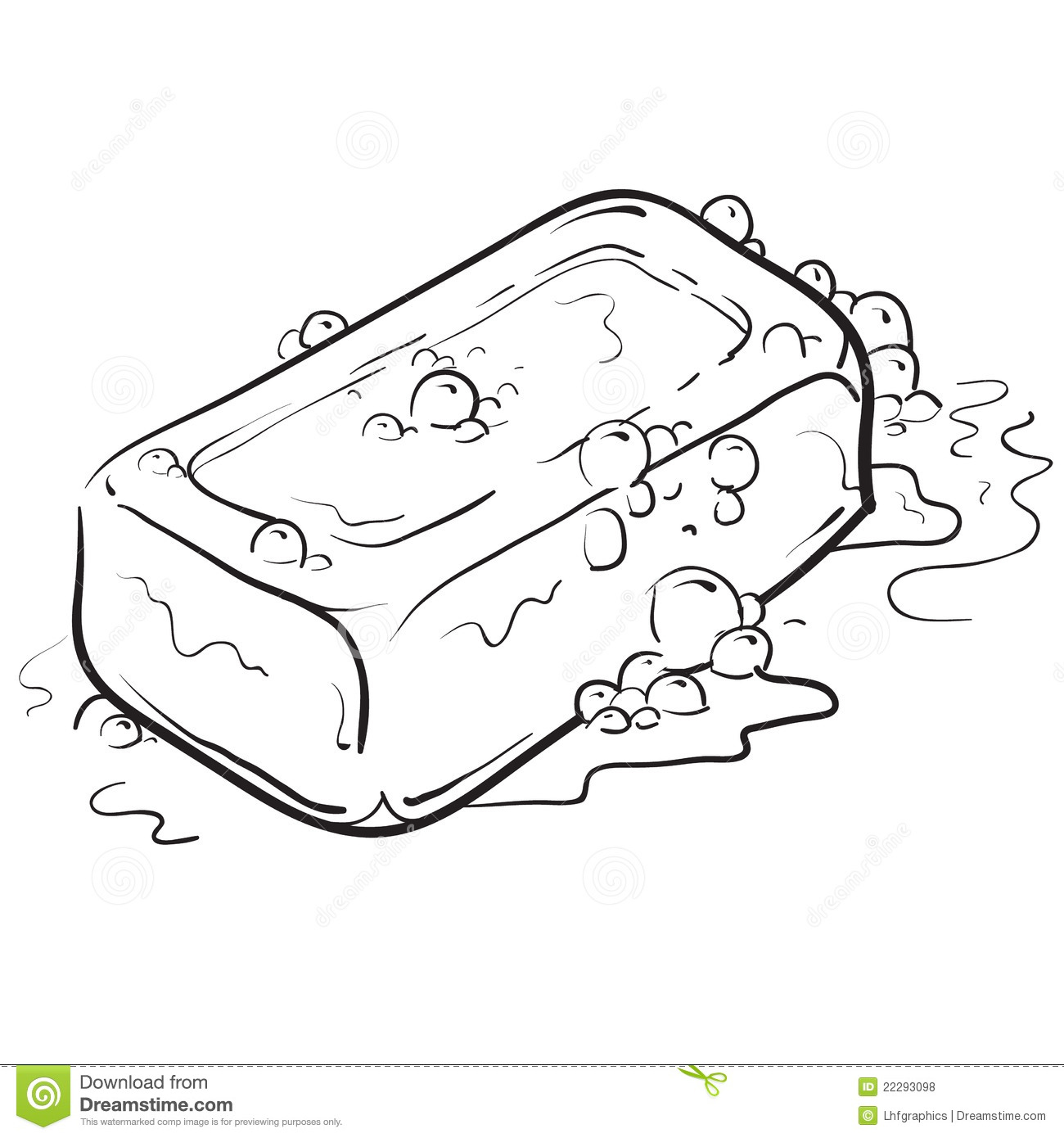 Soap And Bubbles Illustration Royalty Free Stock Photos