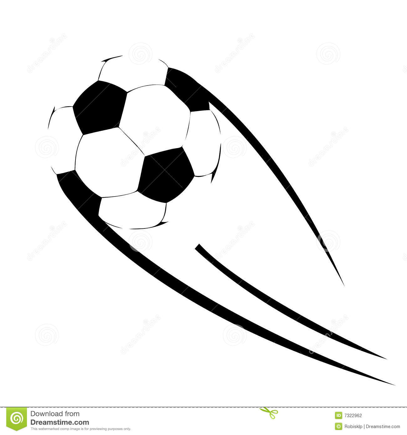 Soccer Ball Flying Stock Vector Illustration Of Ball