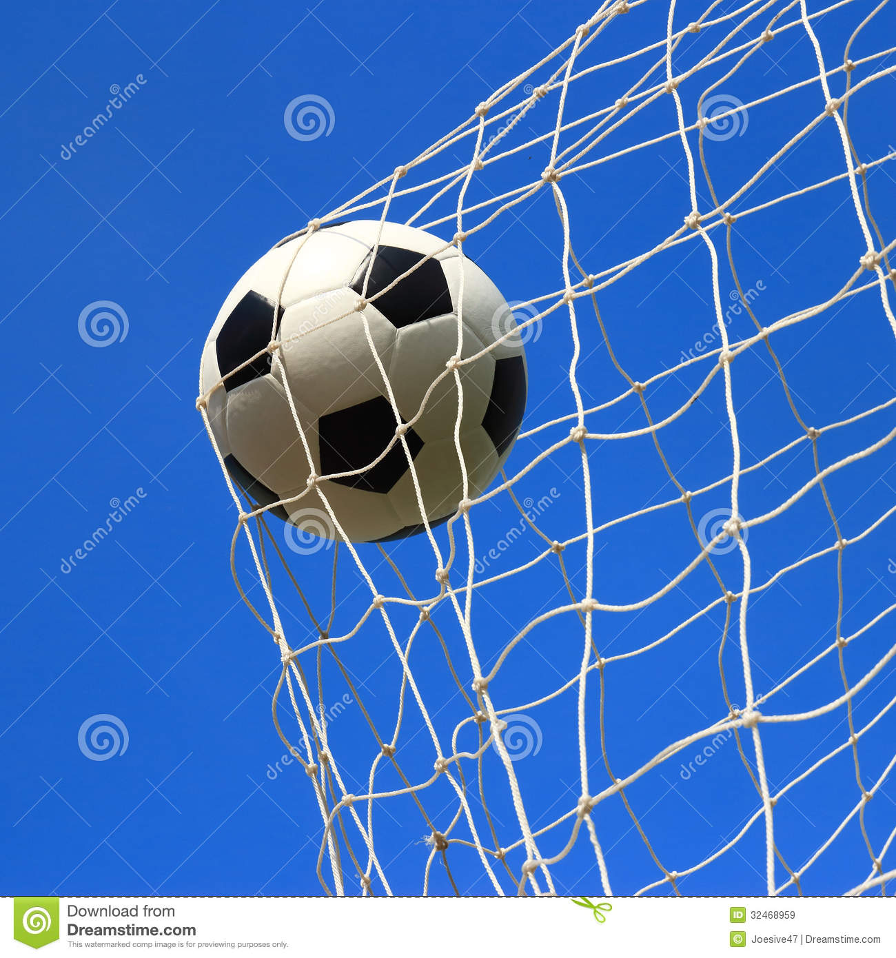 Soccer Ball In Goal Stock Image Image Of Activity Crash