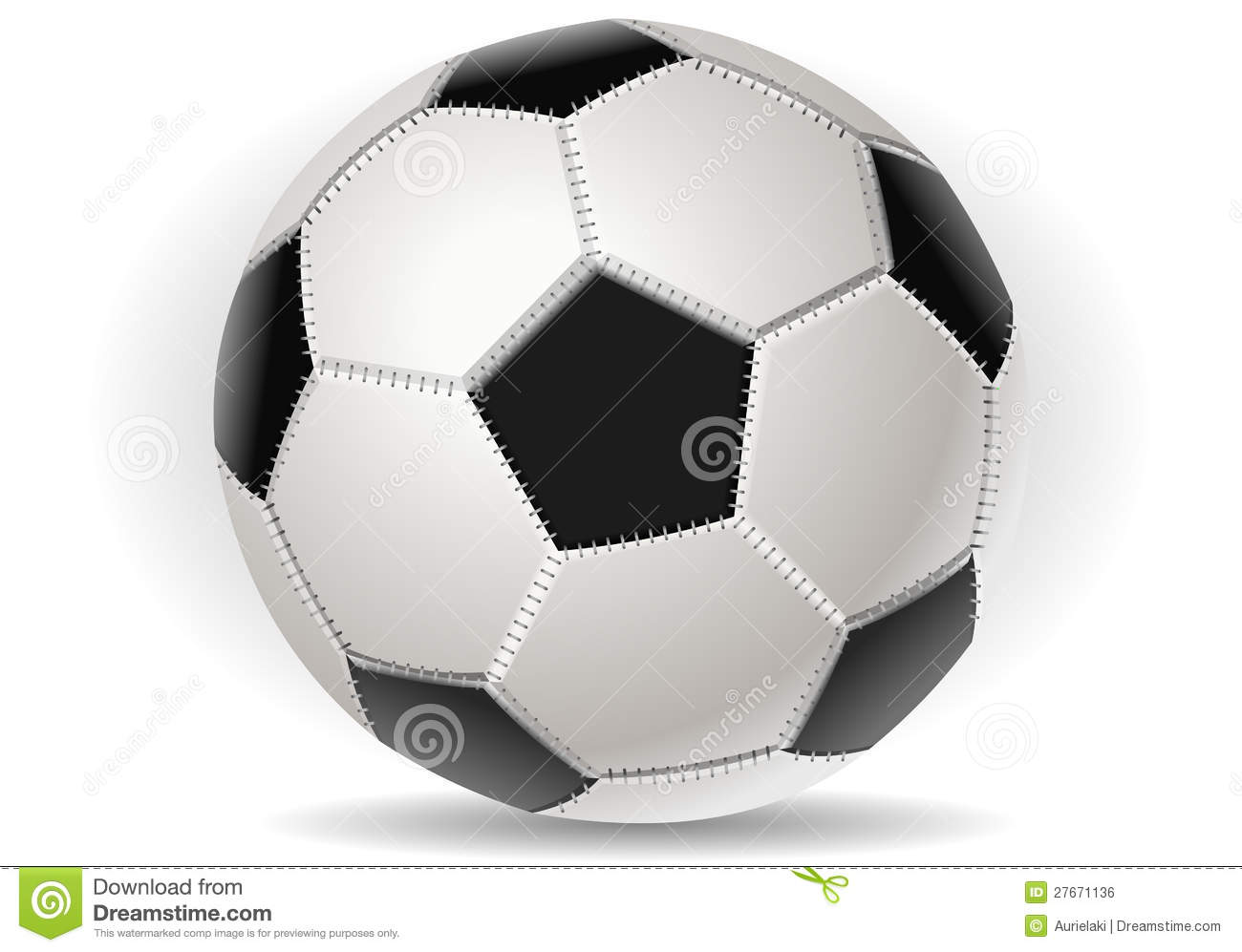 Soccer Ball Isolated On Withe Stock Vector