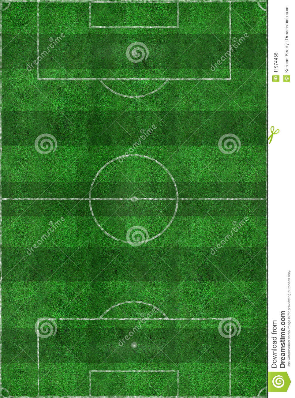 Soccer Field Layout Royalty Free Stock Image Image 11974456