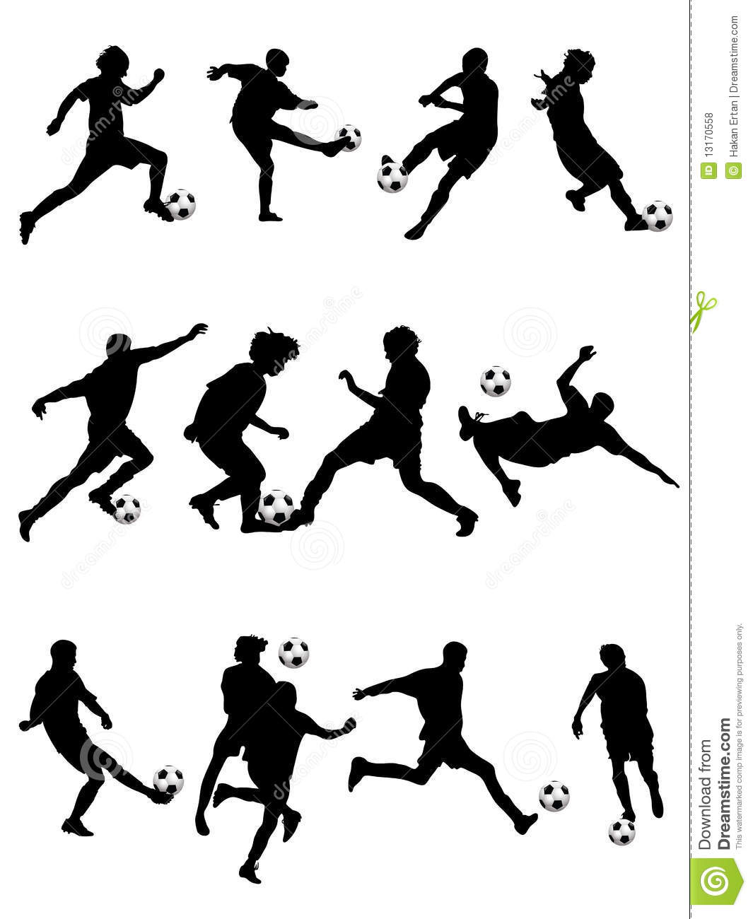Soccer Silhouette Stock Vector Image Of Athletics Clipart