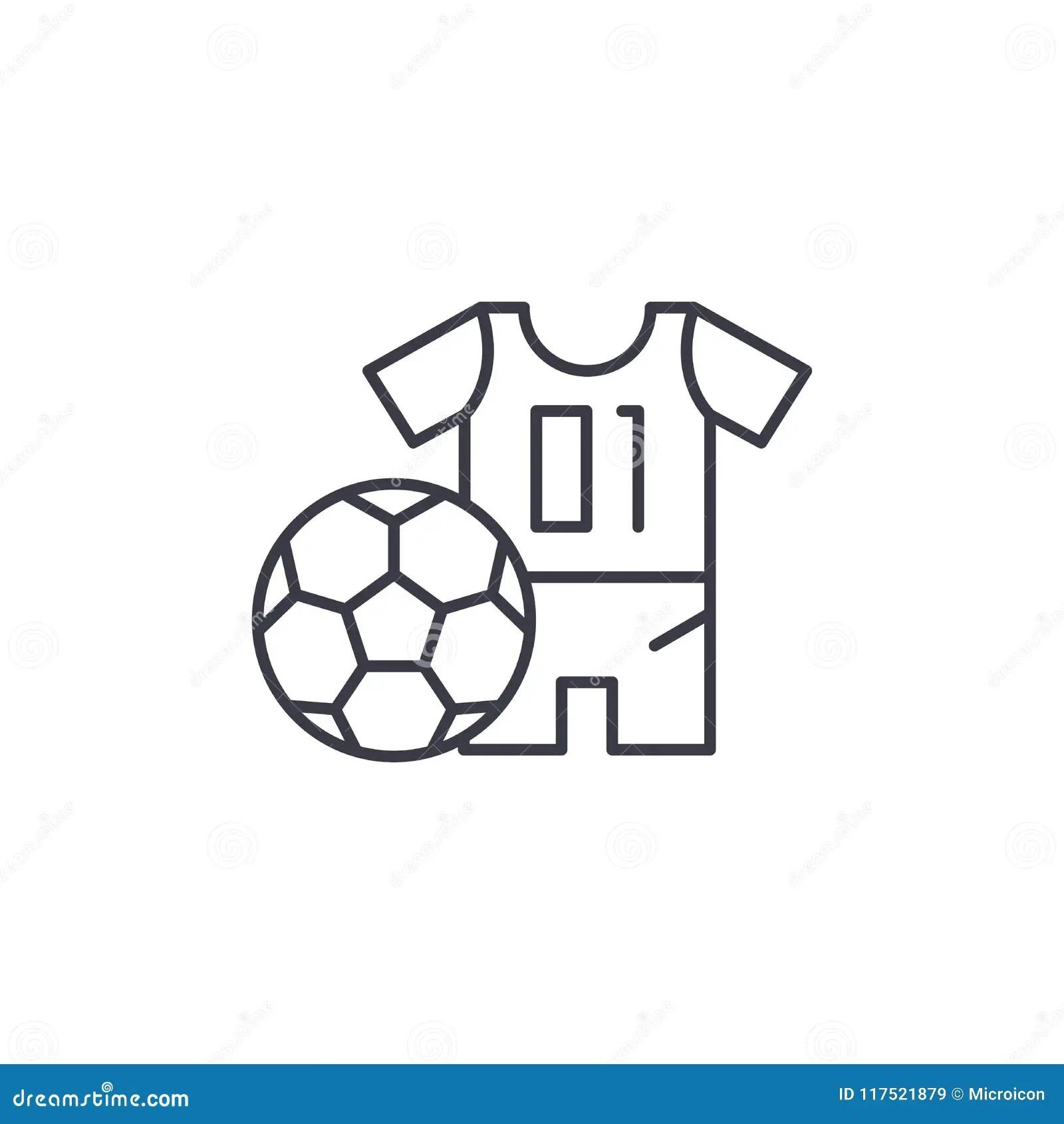 Soccer Uniform Linear Icon Concept Soccer Uniform Line