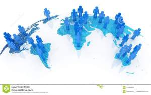 Social Network Concept On World Globe Royalty Free Stock