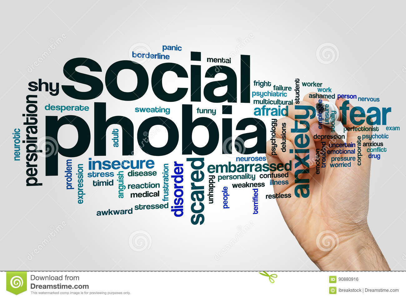 Social Phobia Word Cloud Stock Photo Image Of